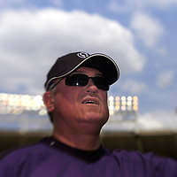 21 July 2007:  Colorado Rockies manager Clint Hurdle signs autographs prior to the game against the Washington Nationals.  The Nationals defeated the Rockies 3-0 at RFK Stadium in Washington, D.C.  ****For Editorial Use Only****