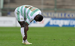 Dejection for Yeovil Town's Nana Ofori-Twumasi - Photo mandatory by-line: Harry Trump/JMP - Mobile: 07966 386802 - 03/04/15 - SPORT - FOOTBALL - Sky Bet League One - Yeovil Town v Chesterfield - Huish Park, Yeovil, England.