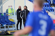 Cove Rangers Manager Paul Hartley  pointing, directing, signalling, gesture during the Betfred Scottish League Cup match between Cove Rangers and Hibernian at Balmoral Stadium, Aberdeen, Scotland on 10 October 2020.