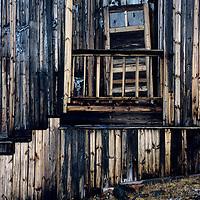 Weathered building at abandoned science station at Tikhaya Bay on Hooker Island.