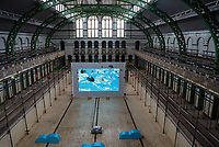 Spectacular Refleclar art exhibition at theMoseley  Rd Baths the national trusts,  arts council funded contemporary arts programme  photo by mark anton smith