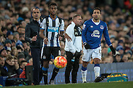 Roberto Martínez (Everton) watches as his side attack during the Barclays Premier League match between Everton and Newcastle United at Goodison Park, Liverpool, England on 3 February 2016. Photo by Mark P Doherty.