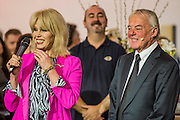 Joanna Lumley, with the company's founder, opens the Sunseeker stand alond with singing quartet Jack Black - The London Boat Show opens at the Excel centre. London 06 Jan 2017 Joanna Lumley opens the Sunseeker stand alond with singing quartet Jack Pack - The London Boat Show opens at the Excel centre. London 06 Jan 2017