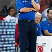 Ukraine's coach Mike FRATELLO during their Istanbul CUP 2011match played Ukraine between New Zeland at Abdi Ipekci Arena in Istanbul, Turkey on 25 August 2011. Photo by TURKPIX