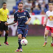 Daniel Paladini, Chicago Fire, in action during the New York Red Bulls V Chicago Fire Major League Soccer regular season match at Red Bull Arena, Harrison. New Jersey. USA. 6th October 2012. Photo Tim Clayton