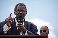"Alabama State Senator is Henry ""Hank"" Sanders speaking at a rally in Saraland Alabama"