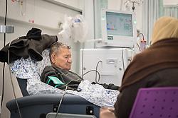 24 February 2020, Jerusalem: Awni Idhadik receives Dialysis treatment at the Augusta Victoria Hospital in Jerusalem.