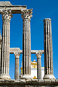 Roman Temple, The temple of Diana, next to Pousada Convento dos Loios de Evora in Portugal