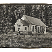 The Howard one room schoolhouse is now located outside Prineville, Oregon in the Ochoco National Forest.