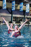 Synchronized swimming sisters Alexia, left and Kalista Iten of Anmore are rising stars with the Aquasonics swim club.