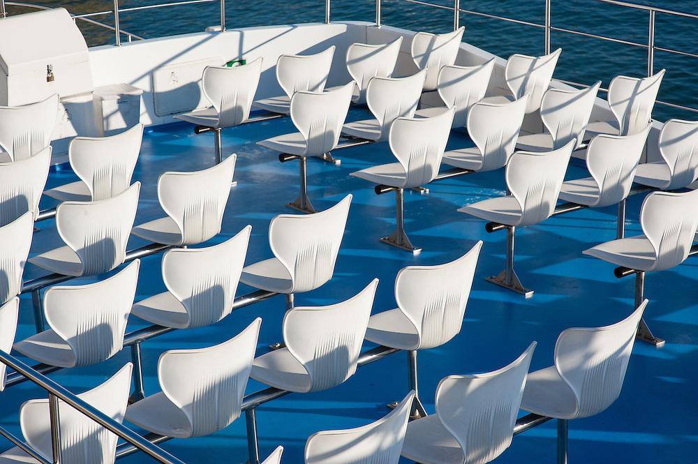 Sightseeing boat empty seats