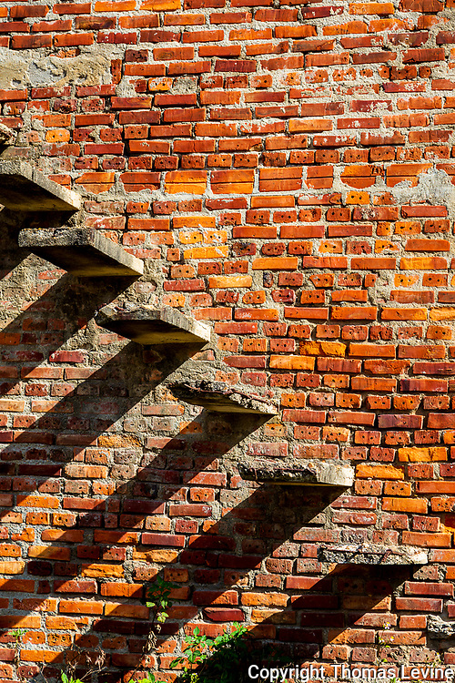 What's left of steps in an old foundry on Cam Kim Island, Hoi An, Vietnam