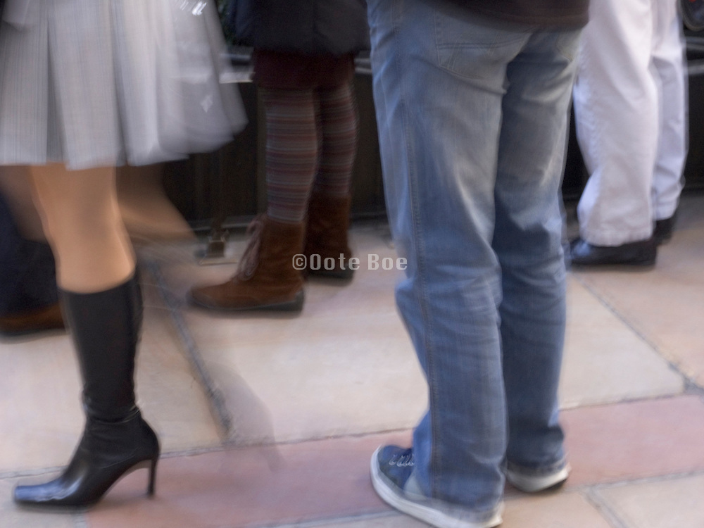 girl walking away from the group