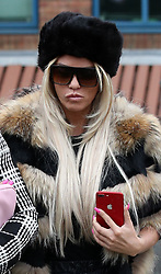 File photo dated 20/03/19 of Katie Price who is to stand trial after denying using abusive and threatening behaviour outside a school in a row with her ex-partner???s girlfriend.