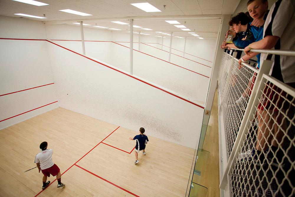 2011 Pomfret School Boys Squash. (Photo by Robert Falcetti)..