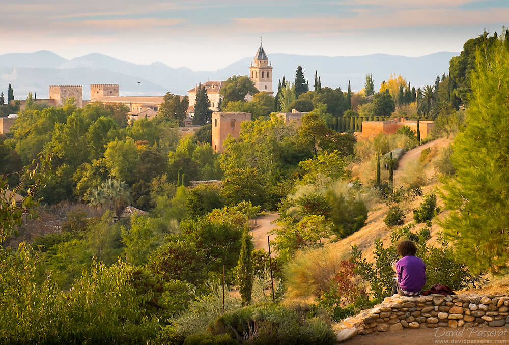 Nature unfolds on the Eastern side of the Alhambra in Granada.