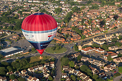 © Licensed to London News Pictures. 29/07/2019; Bristol, UK. Press preview event for the 41st Bristol International Balloon Fiesta 2019 which will take place from 08 - 11 August 2019. For the preview up to 25 hot air balloons will take off from Filton Airfield, next to the Brabazon Hangar which is the site of a proposed new YTL Arena, and Aerospace Bristol to play homage to the 50th anniversary of Concorde. The Bristol International Balloon Fiesta attracts hundreds of thousands of visitors and this year the Fiesta will be celebrating Icons of Bristol and look to highlight some of the things that make up the home of the International Balloon Fiesta. The event has joined forces with Aerospace Bristol to honour one of the city's most famed creations, Concorde and Aardman Animations who are celebrating the 30th anniversary of Wallace and Gromit. Over the course of four days, the Bristol International Balloon Fiesta will play host to more than 100 colourful hot air balloons of all sizes and shapes. Special shapes are an iconic part of the Fiesta and the event kicks off with its now traditional special shapes launch on Thursday evening of 08 August. Photo credit: Simon Chapman/LNP.