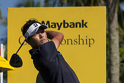 February 3, 2018 - Shah Alam, Kuala Lumpur, Malaysia - Daisuke Kataoka is seen taking a shot from hole no 3 on day 3 at the Maybank Championship 2018...The Maybank Championship 2018 golf event is being hosted on 1st to 4th February at Saujana Golf & Country Club. (Credit Image: © Faris Hadziq/SOPA via ZUMA Wire)