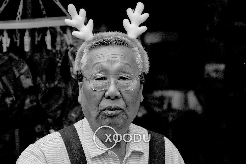 Reindeer man, Nara, Japan (June 2004)
