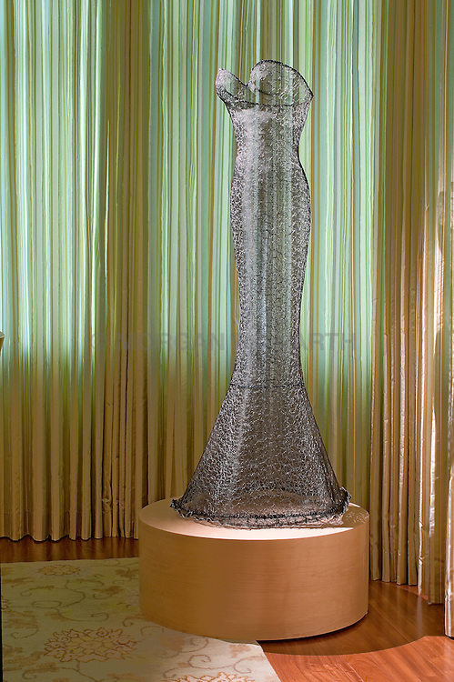 Wire mesh dress sculpture