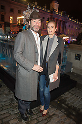 MAT COLLISHAW and POLLY MORGAN at the launch of Skate at Somerset House in association with Fortnum & Mason held at Somerset House, The Strand, London on 17th November 2015.