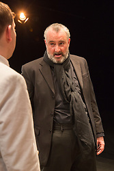 © Licensed to London News Pictures. 01/07/2015. London, UK. John Hodgkinson as Orson Welles. Photocall for the European Premiere of Orson's Shadow by Austin Pendleton at the Southwark Playhouse. The comedy, based on true events as Orson Wells and Laurence Olivier work together for the first time, runs from 1 to 25 July 2015. Photo credit : Bettina Strenske/LNP