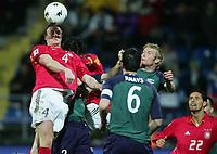 Fotball , mars 2005, Slovenia - Tyskland, v.l. Robert HUTH, dahinter Ballack, Knavs 6, Matej MAVRIC