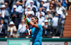 June 7, 2018 - Paris, U.S. - PARIS, FRANCE - JUN 07: RAFAEL NADAL (ESP) during day twelve match of the 2018 French Open 2018 on June 7, 2018, at Stade Roland-Garros in Paris, France. (Photo by Chaz Niell/Icon Sportswire) (Credit Image: © Chaz Niell/Icon SMI via ZUMA Press)