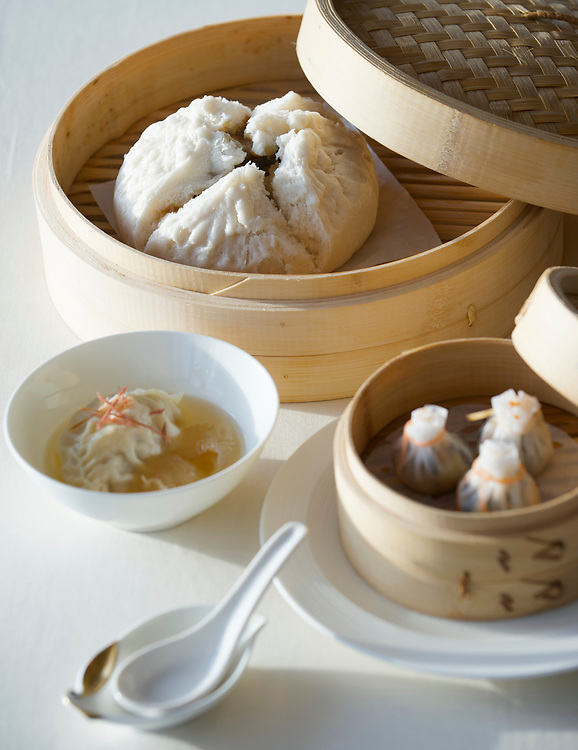 06 July 2009, Macau, China --- Classic Superior Soup Dumpling dish. Photo by Victor Fraile --- Image by © Victor Fraile/Corbis