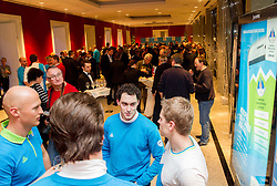 Klemen Pretnar and Ales Music after the presentation of Team Slovenia for Sochi 2014 Winter Olympic Games on January 22, 2014 in Grand Hotel Union, Ljubljana, Slovenia. Photo by Vid Ponikvar / Sportida