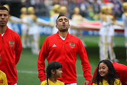 June 14, 2018 - Moscow, Russia - Russian Federation. Moscow. The Luzhniki Stadium. Match Opening of the World Cup 2018. Russia - Saudi Arabia. Solemn opening ceremony of the FIFA World Cup 2018. FIFA World Cup 2018. Player of the Russian national football team (in red)..Alexander Samedov. (Credit Image: © Russian Look via ZUMA Wire)