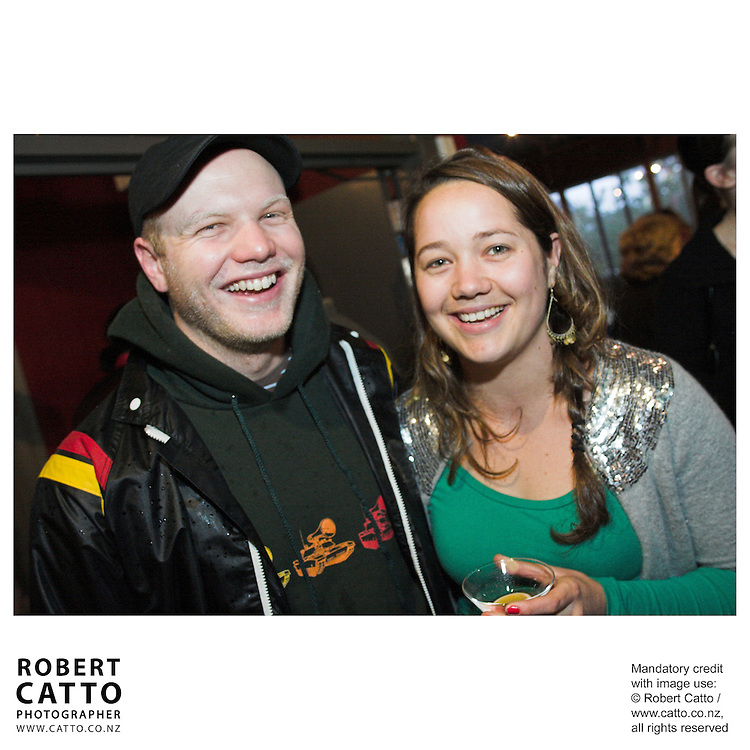 Charlie Bleakley;Rachel Forman at the NZ Actors Equity Launch at the Downstage Theatre, Wellington, New Zealand.<br />
