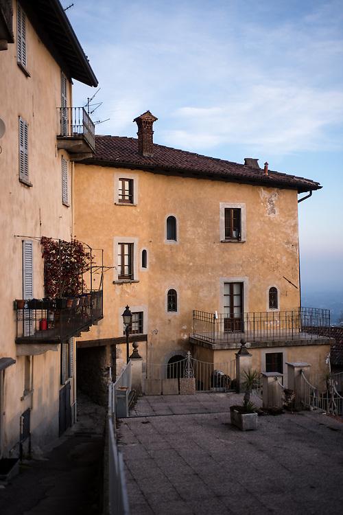 Colorful architecture in Santa Maria Del Monte in Varese, Italy