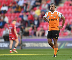 Cheetahs Clayton Blommetjies<br /> <br /> Photographer Mike Jones/Replay Images<br /> <br /> Guinness PRO14 Round 22 - Scarlets v Cheetahs - Saturday 5th May 2018 - Parc Y Scarlets - Llanelli<br /> <br /> World Copyright © Replay Images . All rights reserved. info@replayimages.co.uk - http://replayimages.co.uk