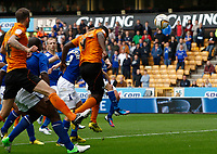 Football - The Championship- Wolverhampton Wanderers v Leicester City -  Wolves' Sylvan Ebanks- Blake scores the first goal at Molineux