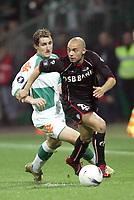 Fotball<br /> Foto: imago/Digitalsport<br /> NORWAY ONLY<br /> <br /> 12.04.2007  <br /> Miroslav Klose (Bremen, li.) gegen Demy De Zeeuw (Alkmaar)