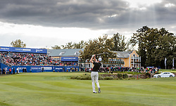 27.09.2015, Beckenbauer Golf Course, Bad Griesbach, GER, PGA European Tour, Porsche European Open, im Bild Ross Fisher (ENG) schlägt auf das 18. Loch, Uebersicht // Ross Fisher (ENG) on Hole 18, Overview during the European Tour, Porsche European Open Golf Tournament at the Beckenbauer Golf Course in Bad Griesbach, Germany on 2015/09/27. EXPA Pictures © 2015, PhotoCredit: EXPA/ JFK