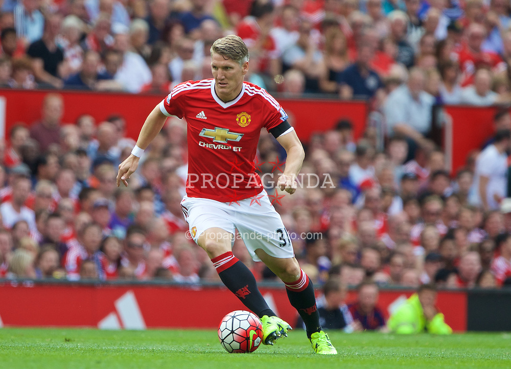 MANCHESTER, ENGLAND - Saturday, August 8, 2015: Manchester United's substitute Bastian Schweinsteiger makes his debut against Tottenham Hotspur during the Premier League match at Old Trafford. (Pic by David Rawcliffe/Propaganda)
