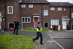 © Licensed to London News Pictures . 11/09/2020. Bolton , UK . PCs TERRY WILKINSON and TONY LOWE investigate after a report , believed to be false , that people were gathered in breach of Coronavirus prevention regulations , in the garden of a house in Westhoughton . Police officers from Greater Manchester Police and Environmental Health Officers from Bolton Council respond to concerns of breaches of Coronavirus regulations , as stricter lockdown measures and a curfew on hospitality businesses are imposed in the borough to limit the spread of Covid-19 . Photo credit : Joel Goodman/LNP