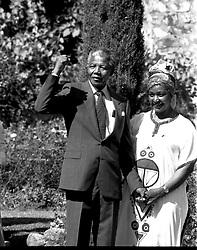 Nelson Mandela & Winnie Mandela in Cape Town.