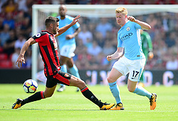 Kevin De Bruyne of Manchester City passes the ball.  - Mandatory by-line: Alex James/JMP - 26/08/2017 - FOOTBALL - Vitality Stadium - Bournemouth, England - Bournemouth v Manchester City - Premier League