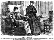 In 1865 Elizabeth Garrett Anderson (1836-1917) was licensed to practice by the Society of Apothecaries. Having been refused admission to medical schools (on grounds of her sex) in 1860, she began to study privately and was granted her MD in Paris in 1870.