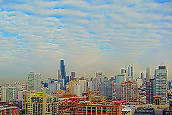 February 2015 - The City of Chicago skyline is like none other.  Skyscrapers include the Trump Tower, Willis (formerly Sears) Tower, Hancock Building, Prudential Building, Standard Oil (Amoco) Building and many more.  Navy Pier, Soldier Field, United Center, and others are often included as is the odd old bridge known as the bascule railroad bridge. It takes many landmarks to make a city. Add the variety of weather conditions and the skyline changes day to day if not quicker.<br /> <br /> <br /> This image was produced in part utilizing High Dynamic Range (HDR) processes. It should not be used editorially without being listed as an illustration or with a disclaimer. It may or may not be an accurate representation of the scene as originally photographed and the finished image is the creation of the photographer.