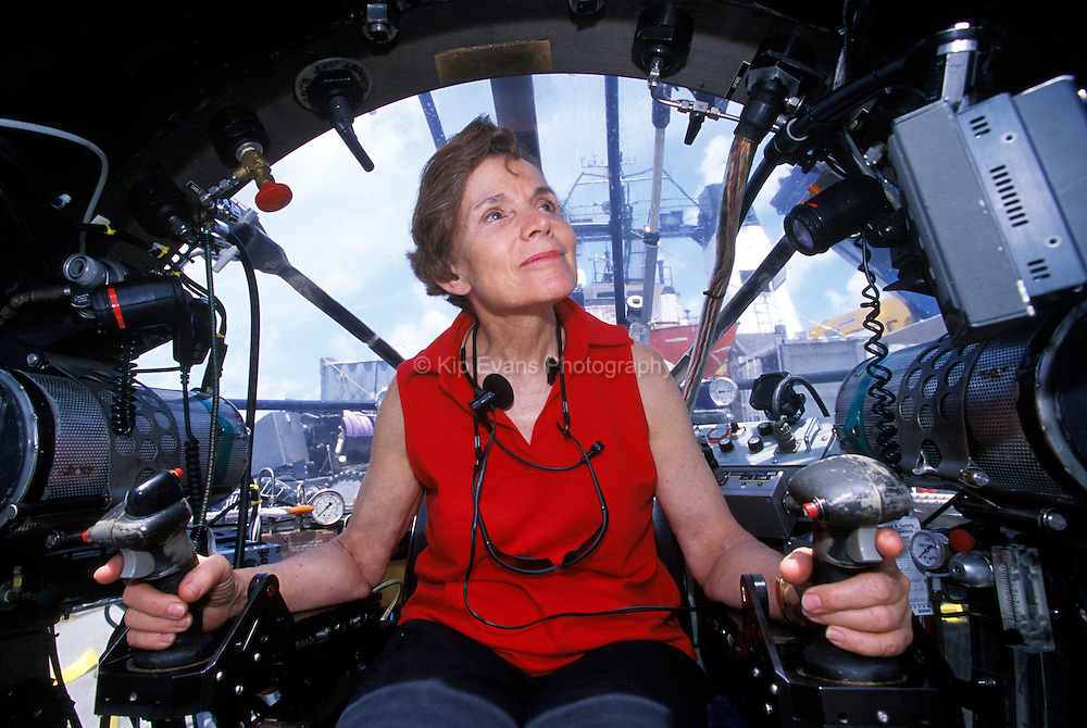 Dr. Sylvia Earle in the Deep Worker submersible
