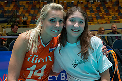 28-05-2019 NED: Volleyball Nations League Netherlands - Brazil, Apeldoorn<br /> <br /> Laura Dijkema #14 of Netherlands