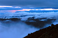 Cayambe-Coca Natural Reserve, Ecuador- View from the Berge', Ruales, Oleas Refuge at 15, 257 feet on Mt. Cayambe.