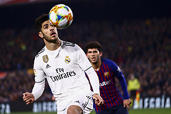 February 6, 2019 - Barcelona, Spain - MARCO ASENSIO during semifinal of spanish King Cup frist leg match between FC Barcelona and Real Madrid at  Nou Camp Stadium on February  6, 2019. (Credit Image: © Jose Miguel Fernandez/NurPhoto via ZUMA Press)