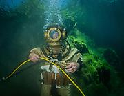 John Date commercial diver at Dutch Springs, Scuba Diving Resort in Bethlehem, Pennsylvania