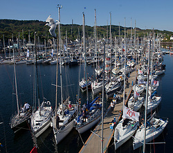 Sailing - SCOTLAND  - 28th May 2018<br /> <br /> Final days racing the Scottish Series 2018, organised by the  Clyde Cruising Club, with racing on Loch Fyne from 25th-28th May 2018<br /> <br /> Tarbert Harbour<br /> <br /> Credit : Marc Turner<br /> <br /> Event is supported by Helly Hansen, Luddon, Silvers Marine, Tunnocks, Hempel and Argyll & Bute Council along with Bowmore, The Botanist and The Botanist