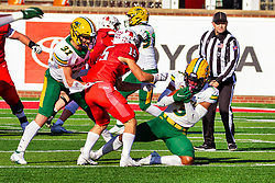 NORMAL, IL - October 16: Jasir Cox during a college football game between the NDSU (North Dakota State) Bison and the ISU (Illinois State University) Redbirds on October 16 2021 at Hancock Stadium in Normal, IL. (Photo by Alan Look)